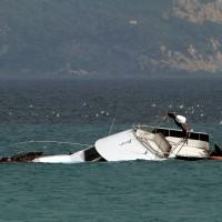 Le bateau naufragé à 100m de la plage de La Ciotat
